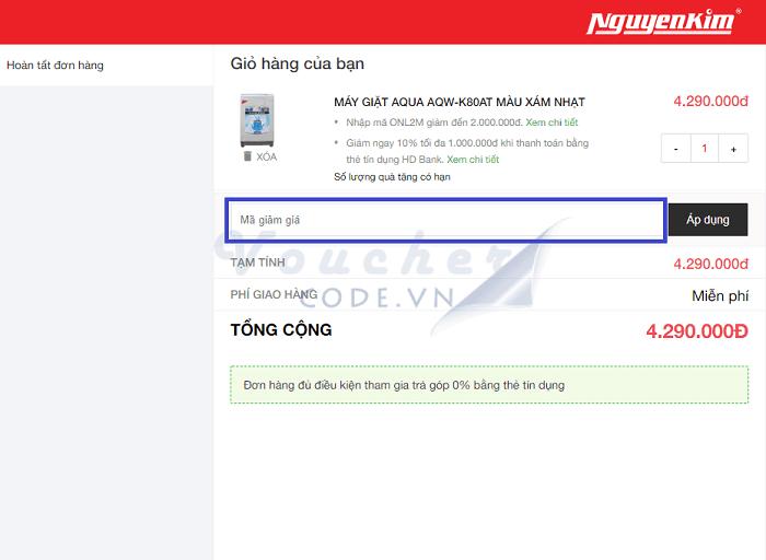 mã giảm giá Nguyễn Kim, voucher Nguyễn Kim, mã khuyến mãi Nguyễn Kim