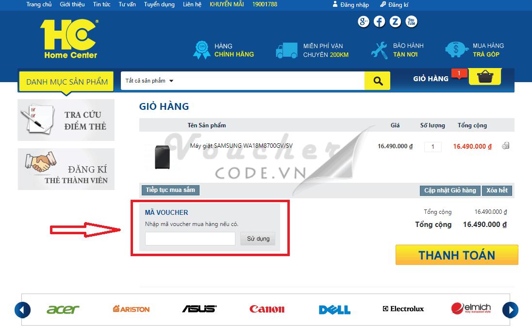 Mã giảm giá HC, voucher HC, mã khuyến mãi HC