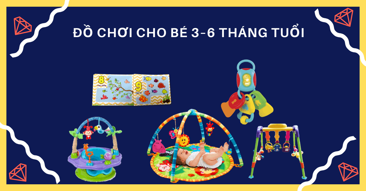 Review 10 loại đồ chơi cho bé 3 – 6 tháng tuổi phát triển trí não